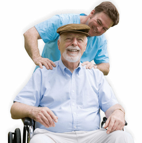 caregiver massaging a patient