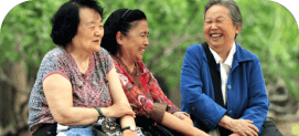 group of elder women laughing